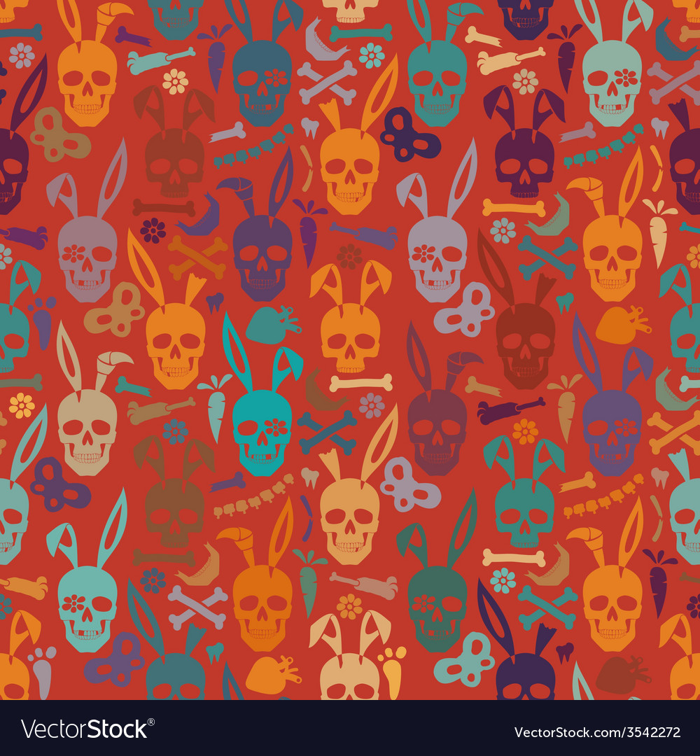 Bunny skull wallpaper