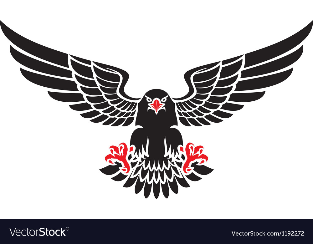 German black eagle vector image