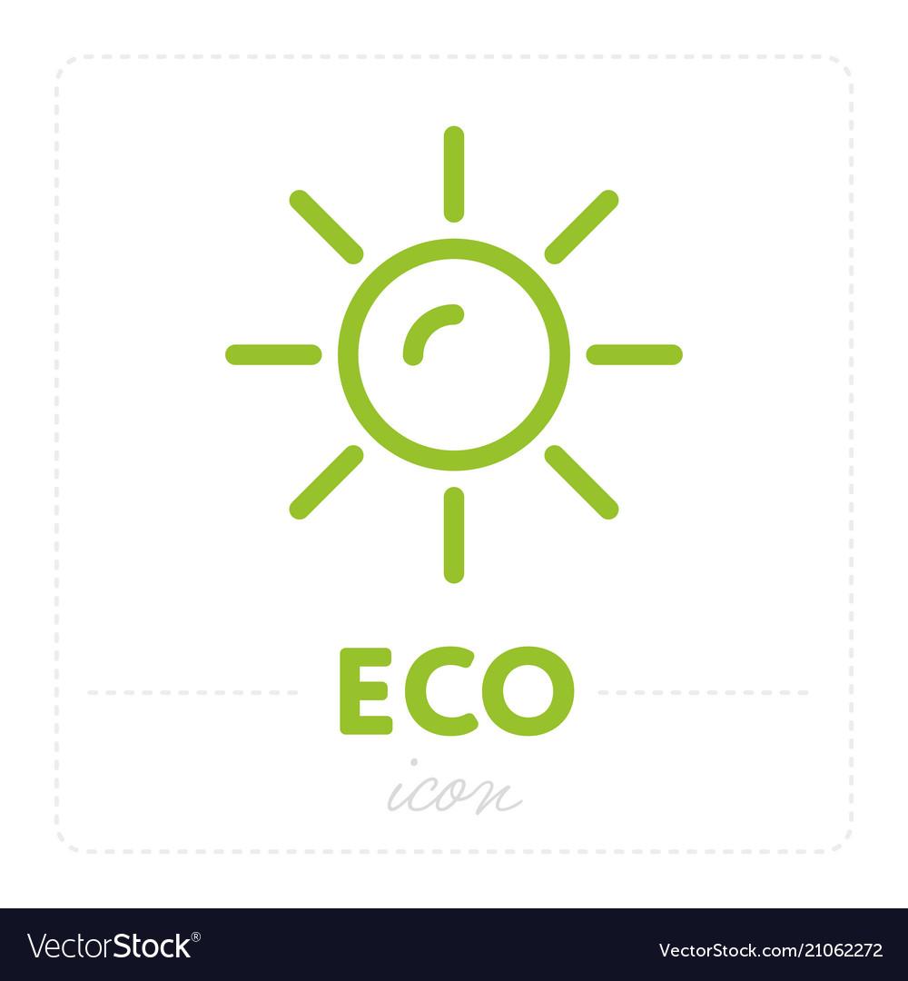 Green icon with sun on white