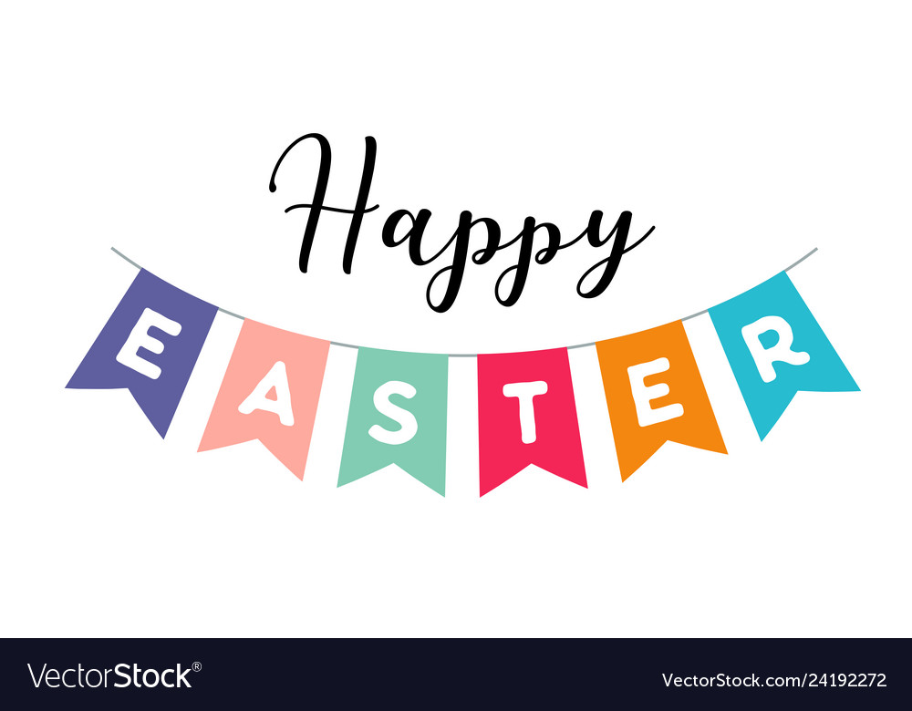 Happy easter banner and