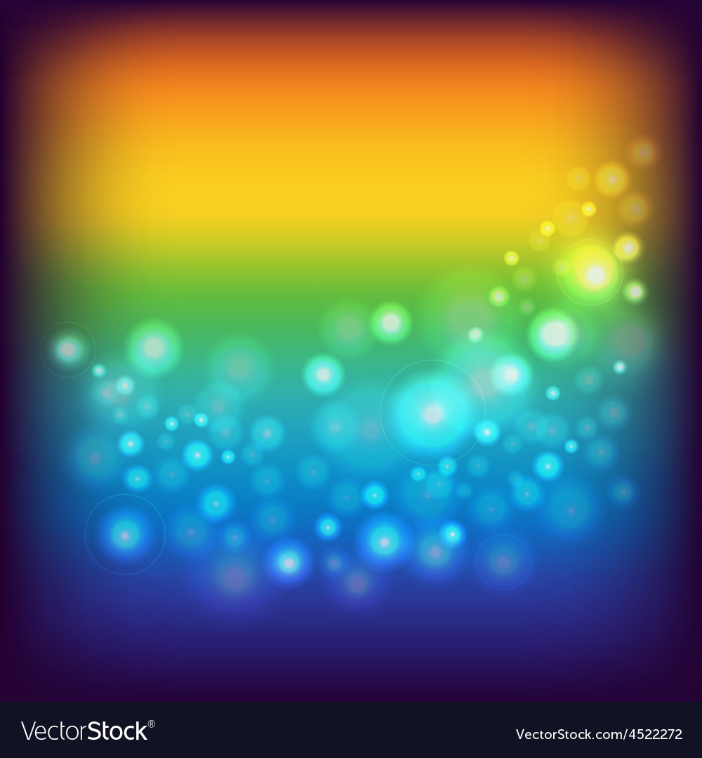 Rainbow background with circles