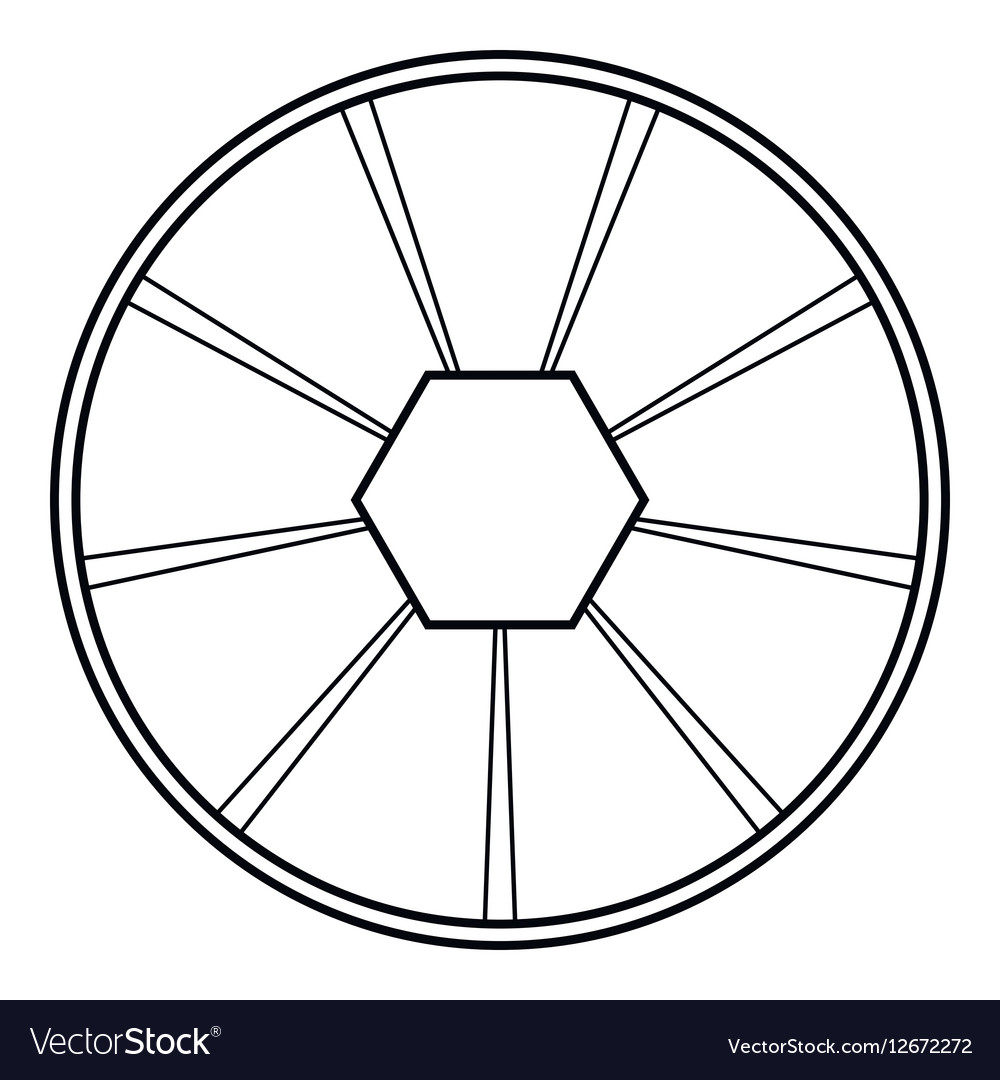 round diagram icon outline style royalty free vector image Text Icon round diagram icon outline style vector image