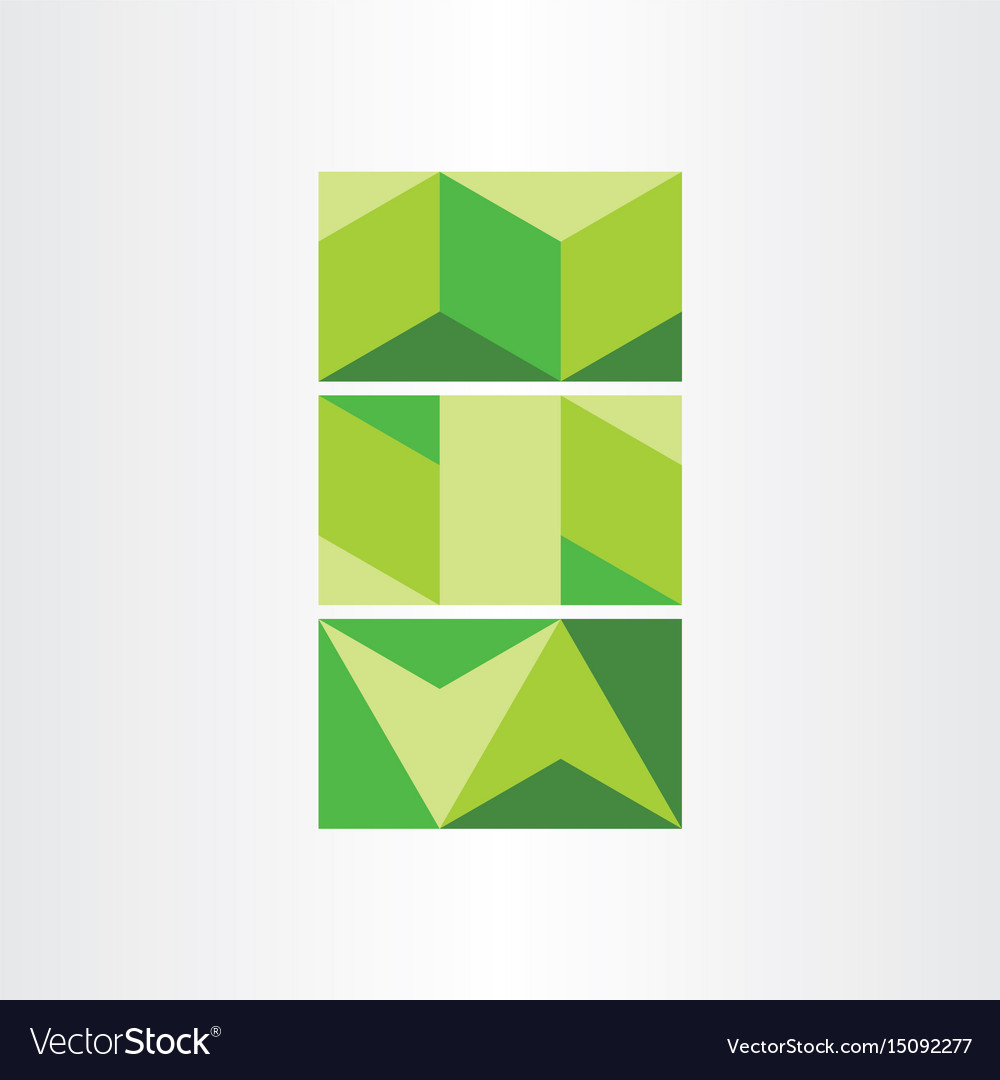 Abstract geometric green background