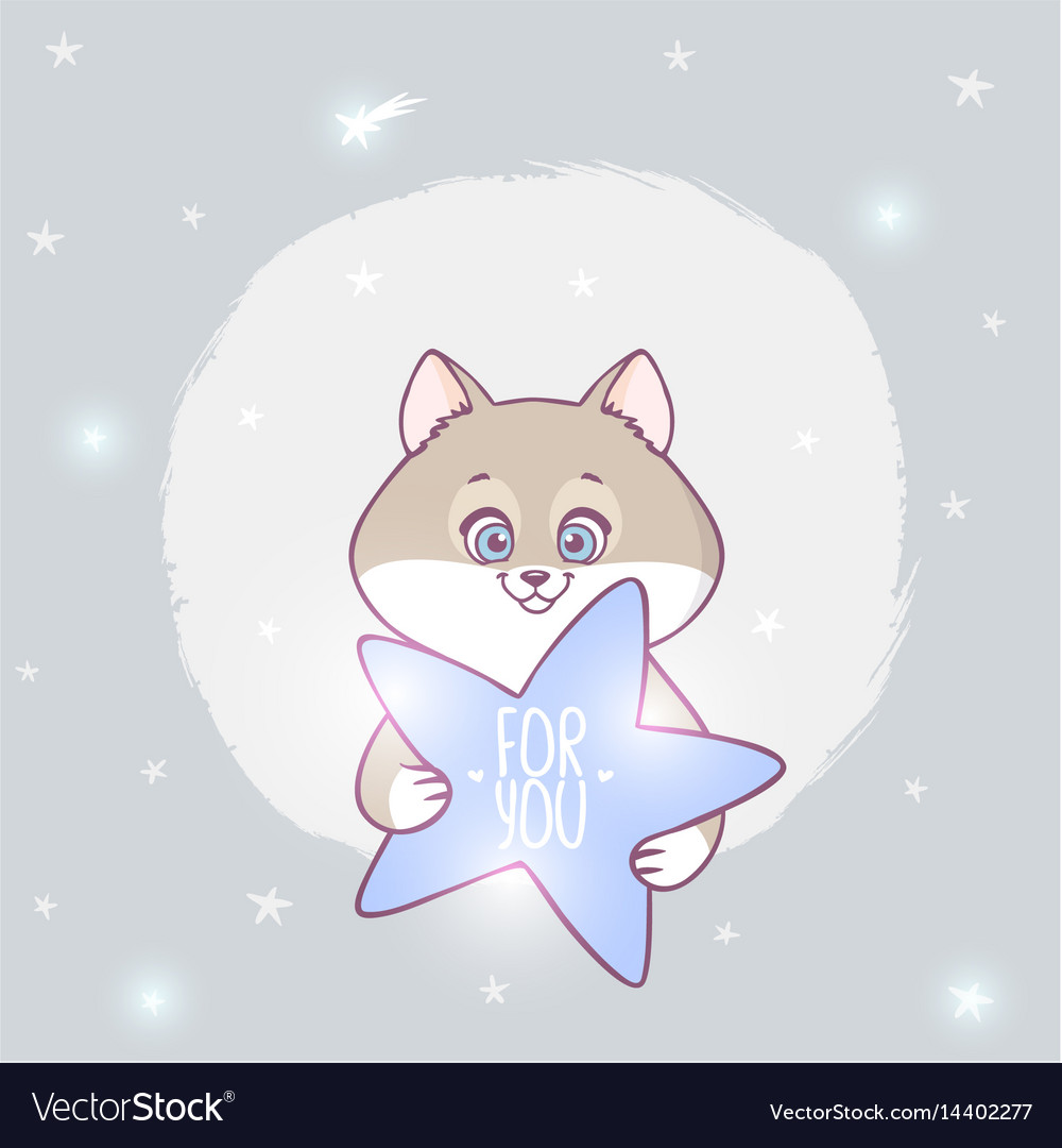 Cat with a star