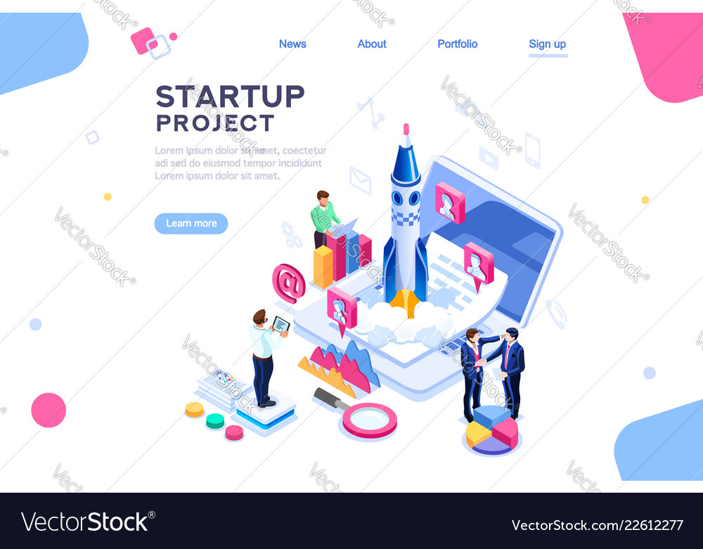 Company homepage template