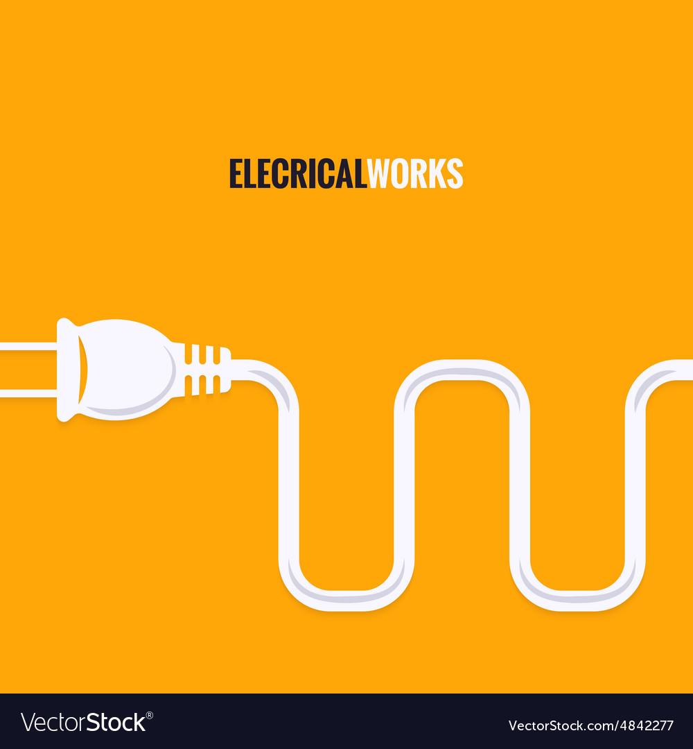 Electric plug wire design background