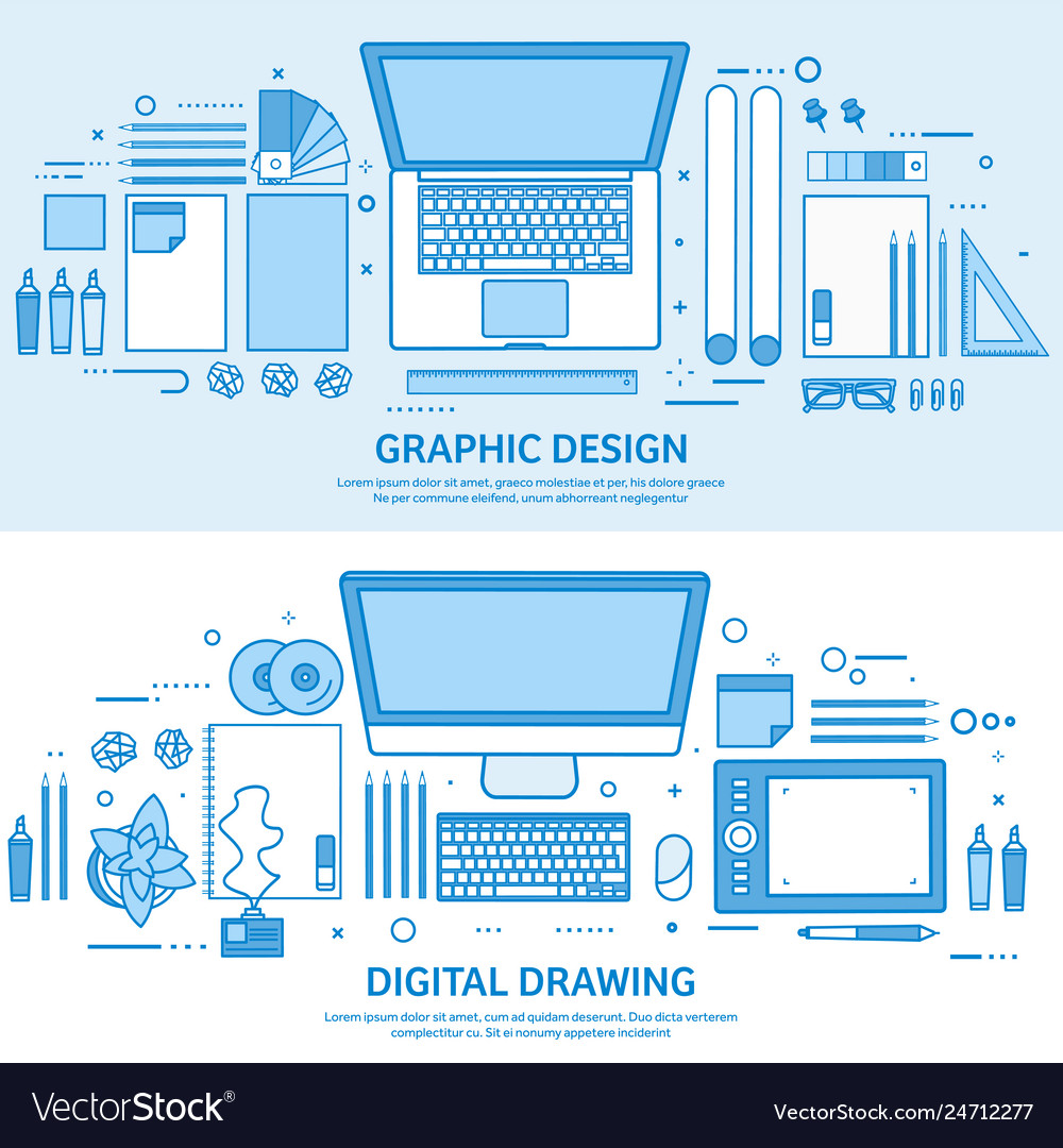 Graphic web design drawing and painting user