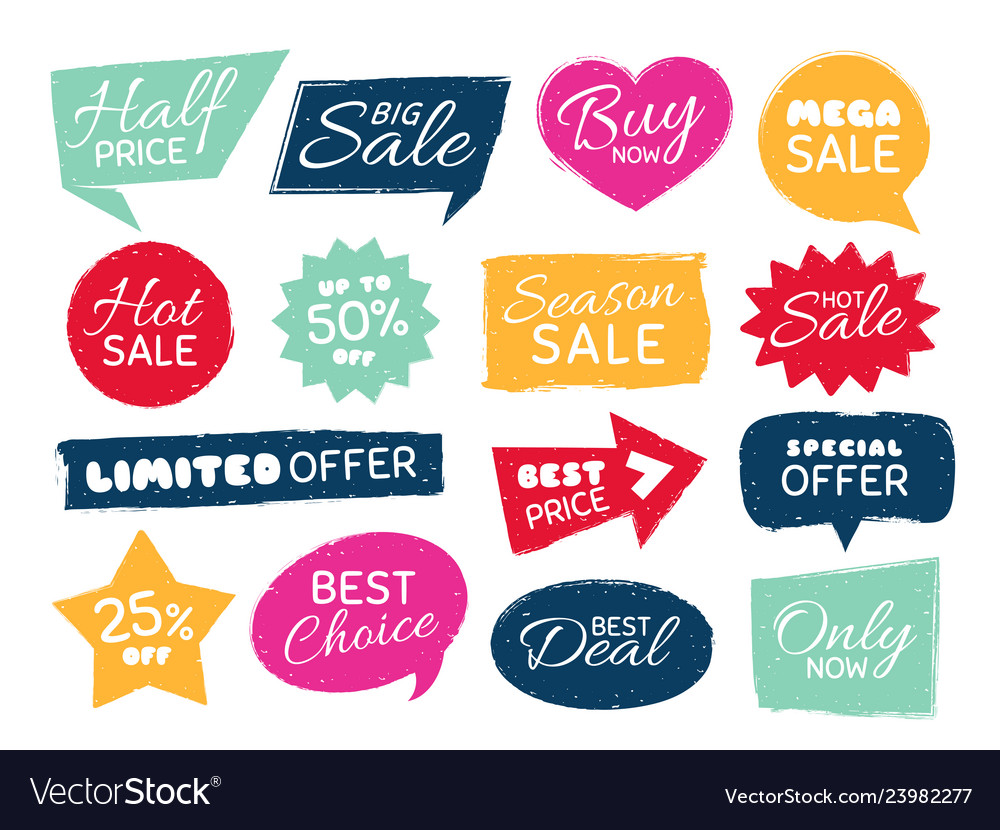 Grunge sale badge retro pricing sticker grungy