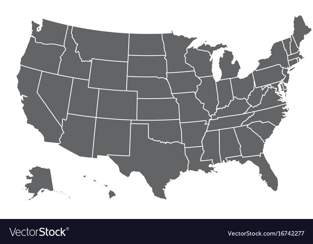 free vector map united states Map united states america Royalty Free Vector Image