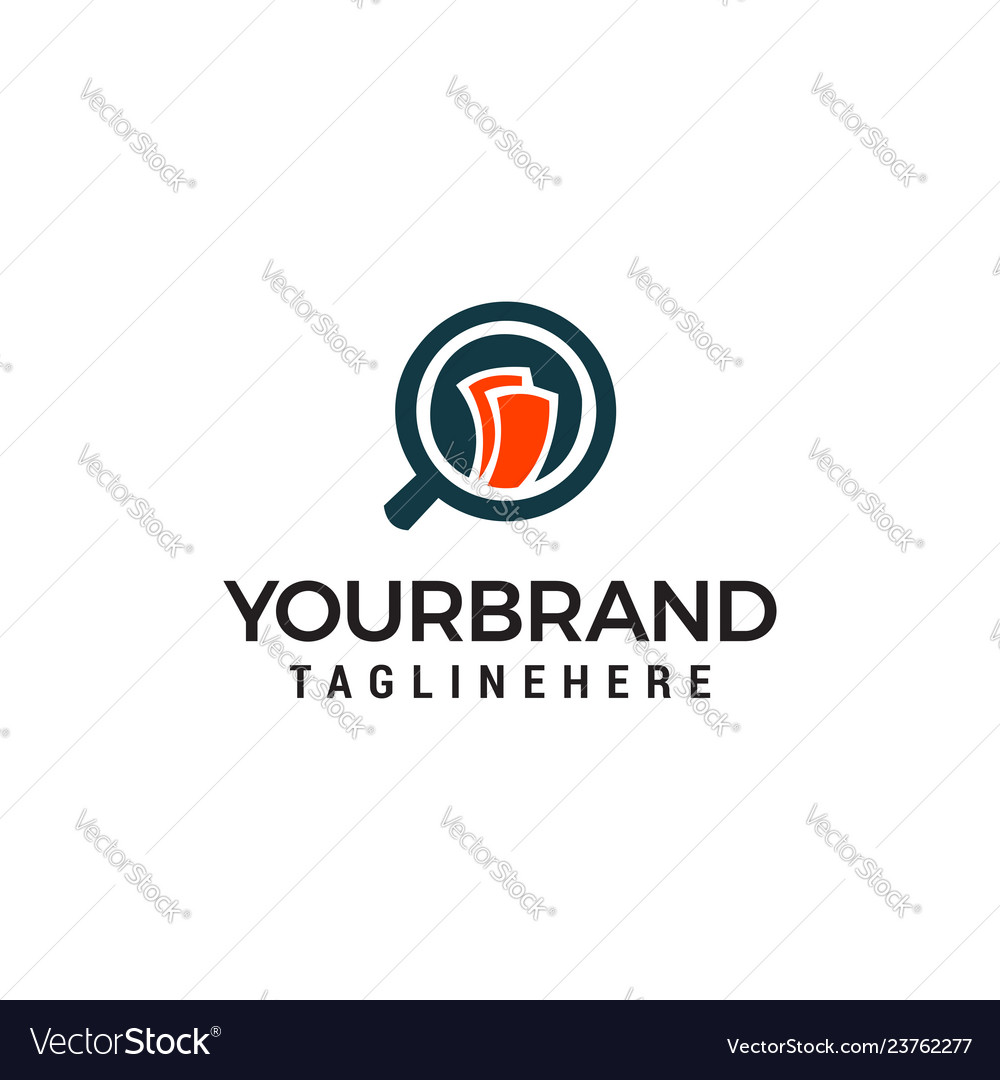 Money search logo magnifier symbol finance