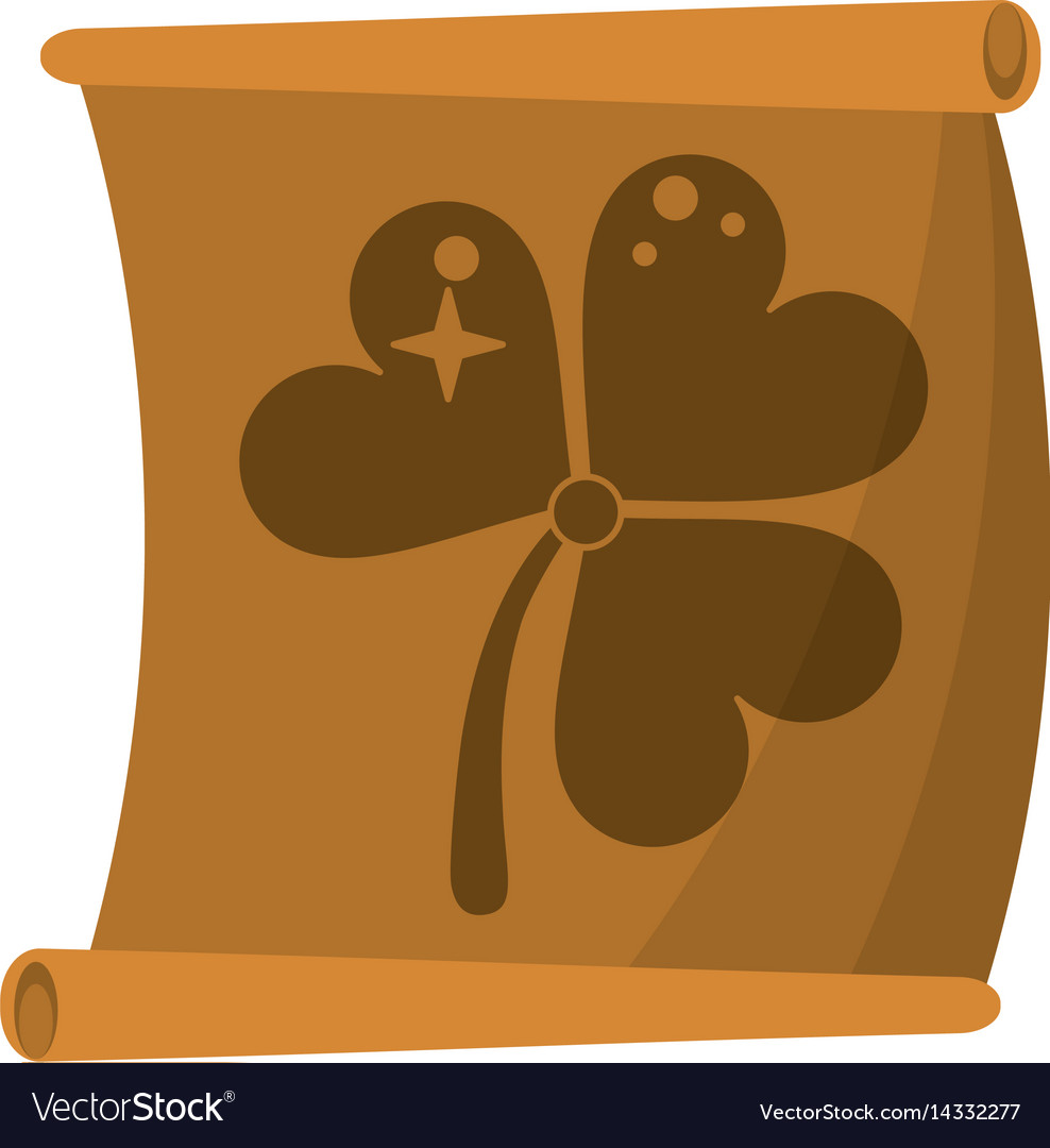 St patricks day clover papyrus vector image
