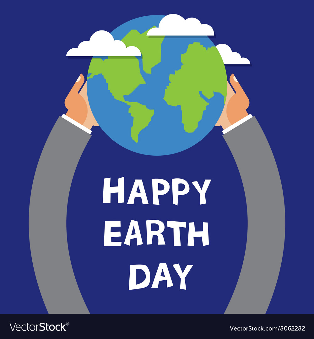 Earth Day globe in the hands of