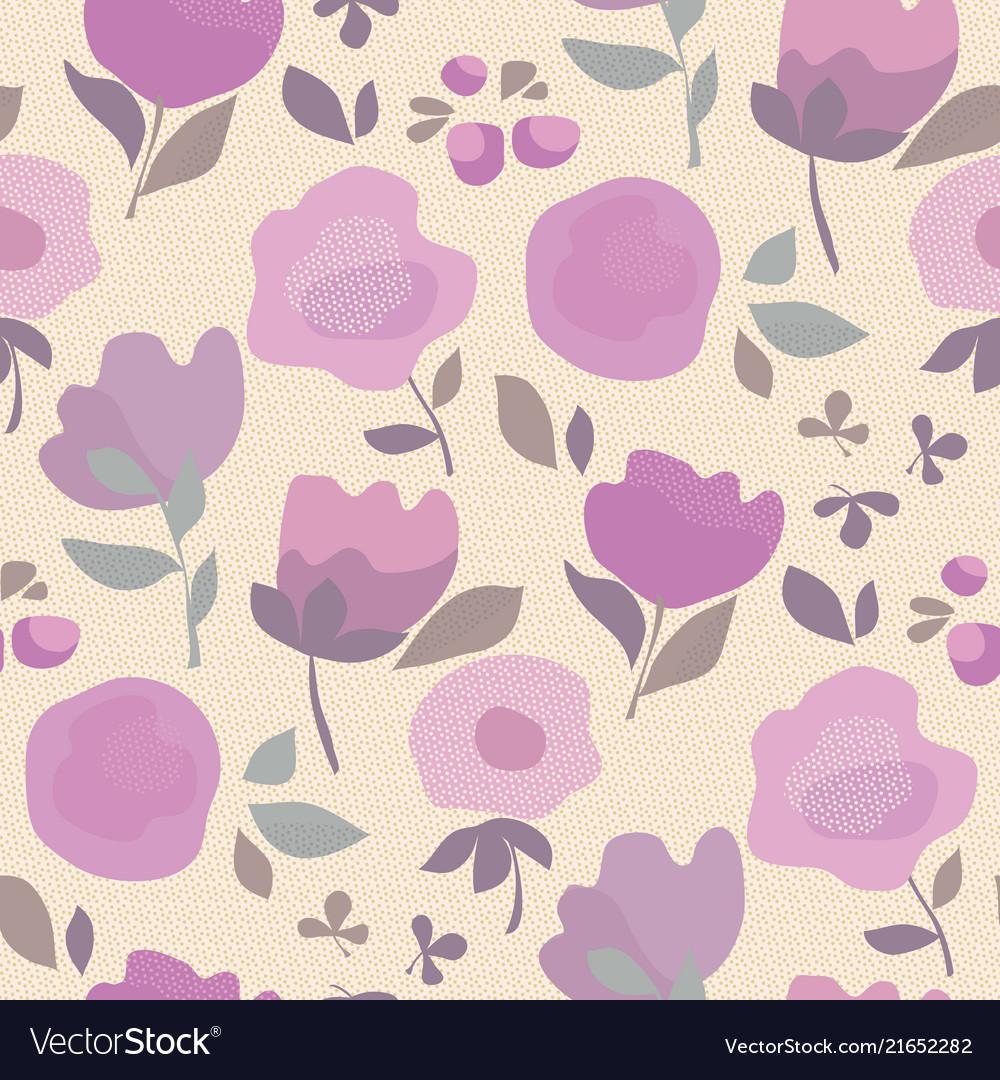 Elegant Violet Color Boho Style Floral Royalty Free Vector