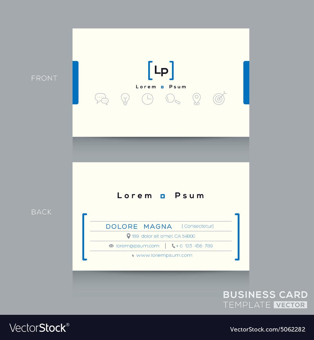 Minimal clean design business card template vector image colourmoves