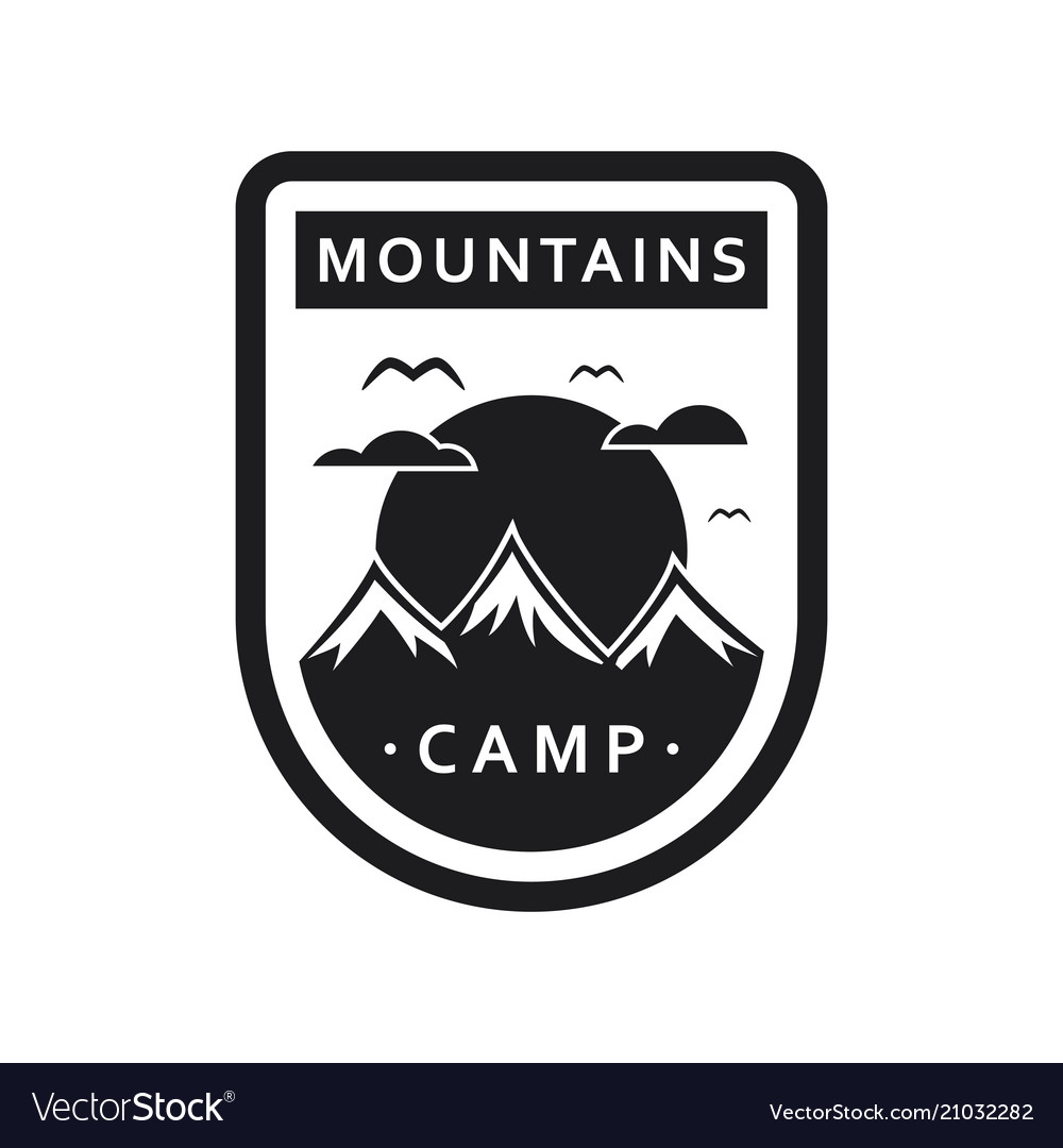 Mountain camping template