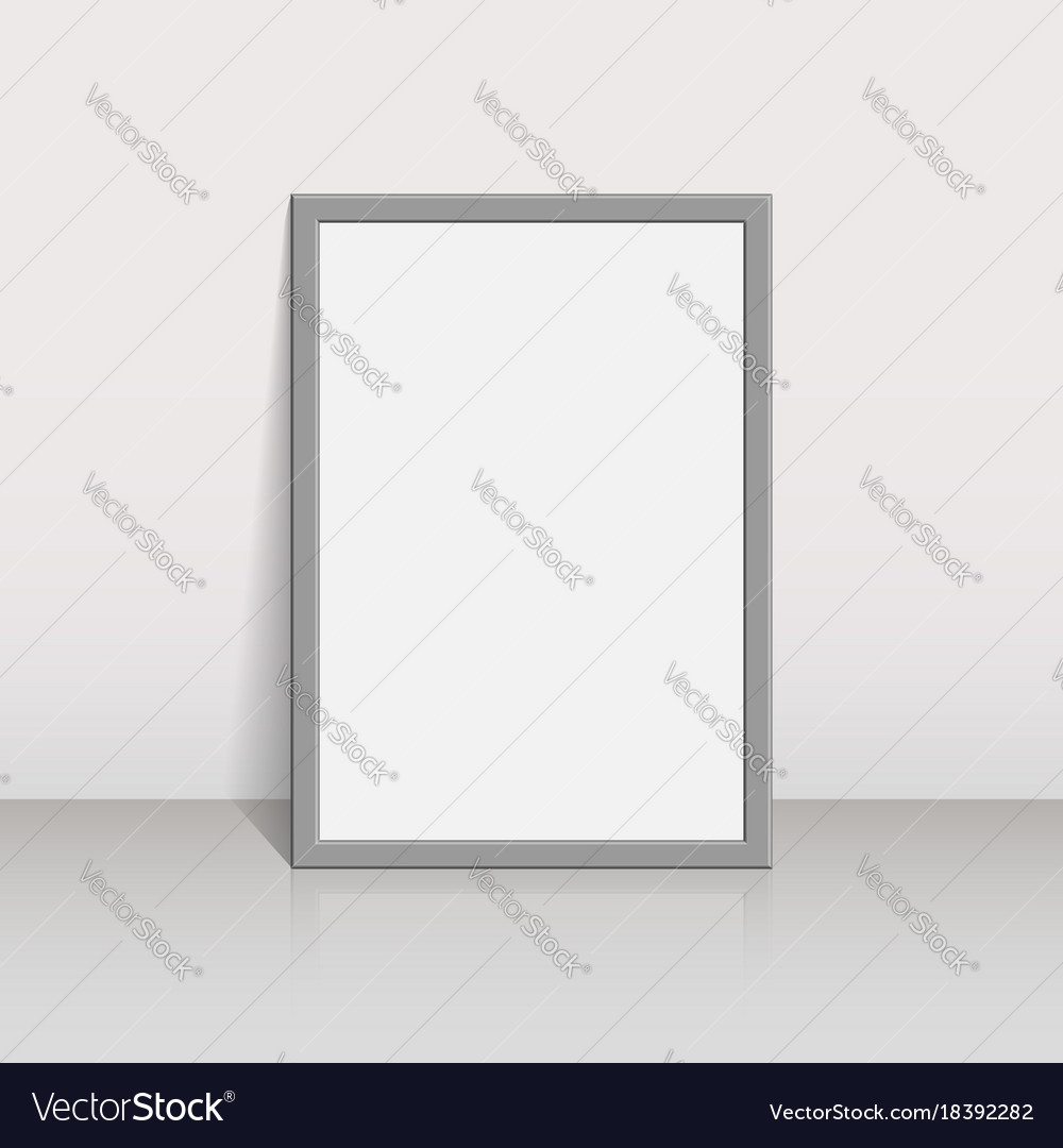 Picture frame on a white wall 3d background design