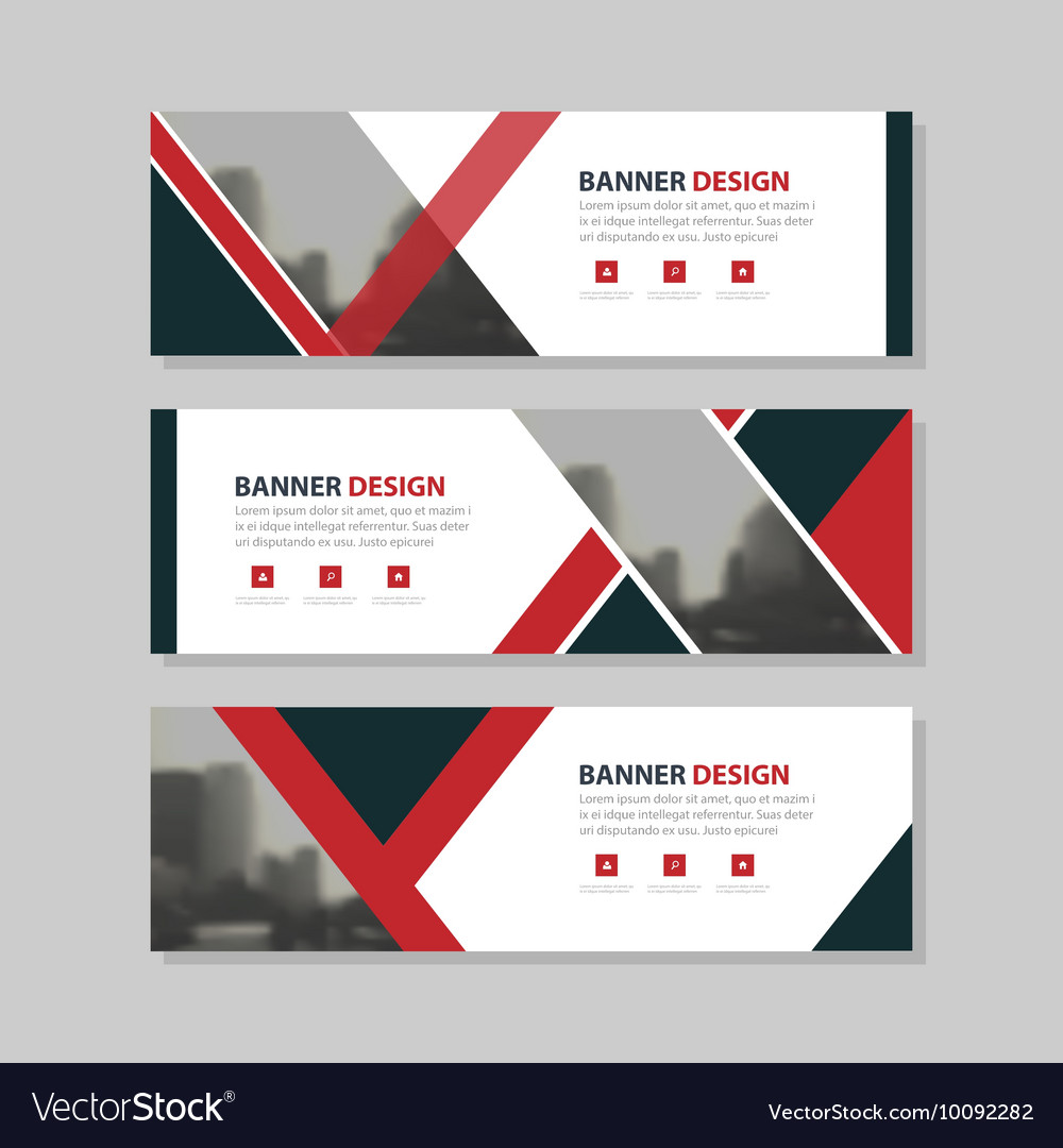 Red black triangle corporate business banner