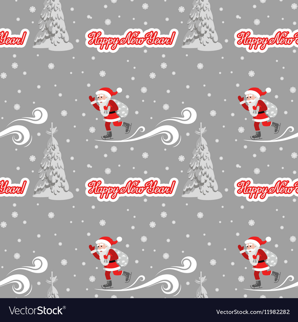 Seamless pattern on the theme of the new
