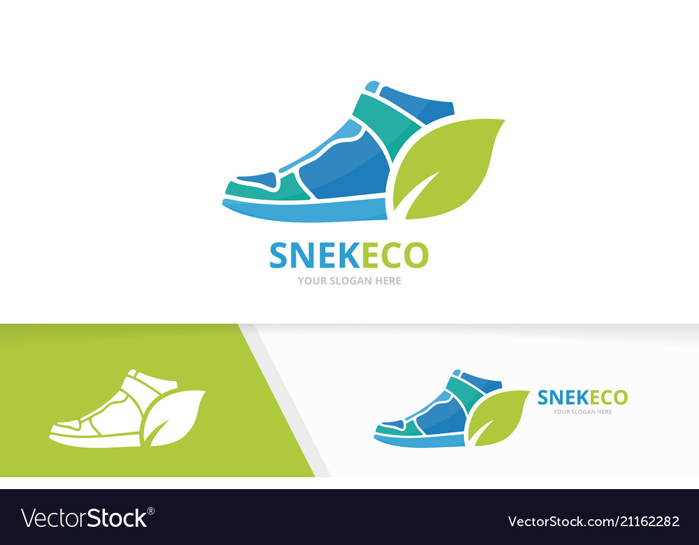 Sneaker and leaf logo combination shoe and