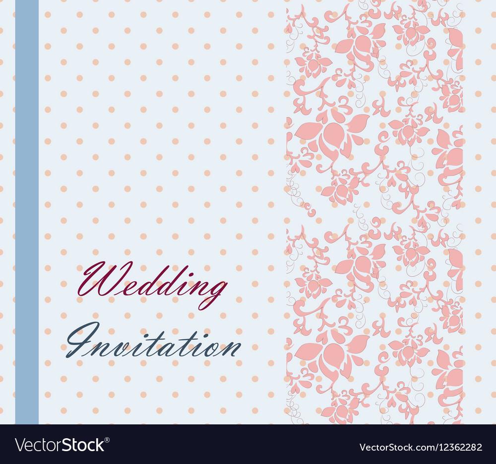 Vintage retro Wedding invitation