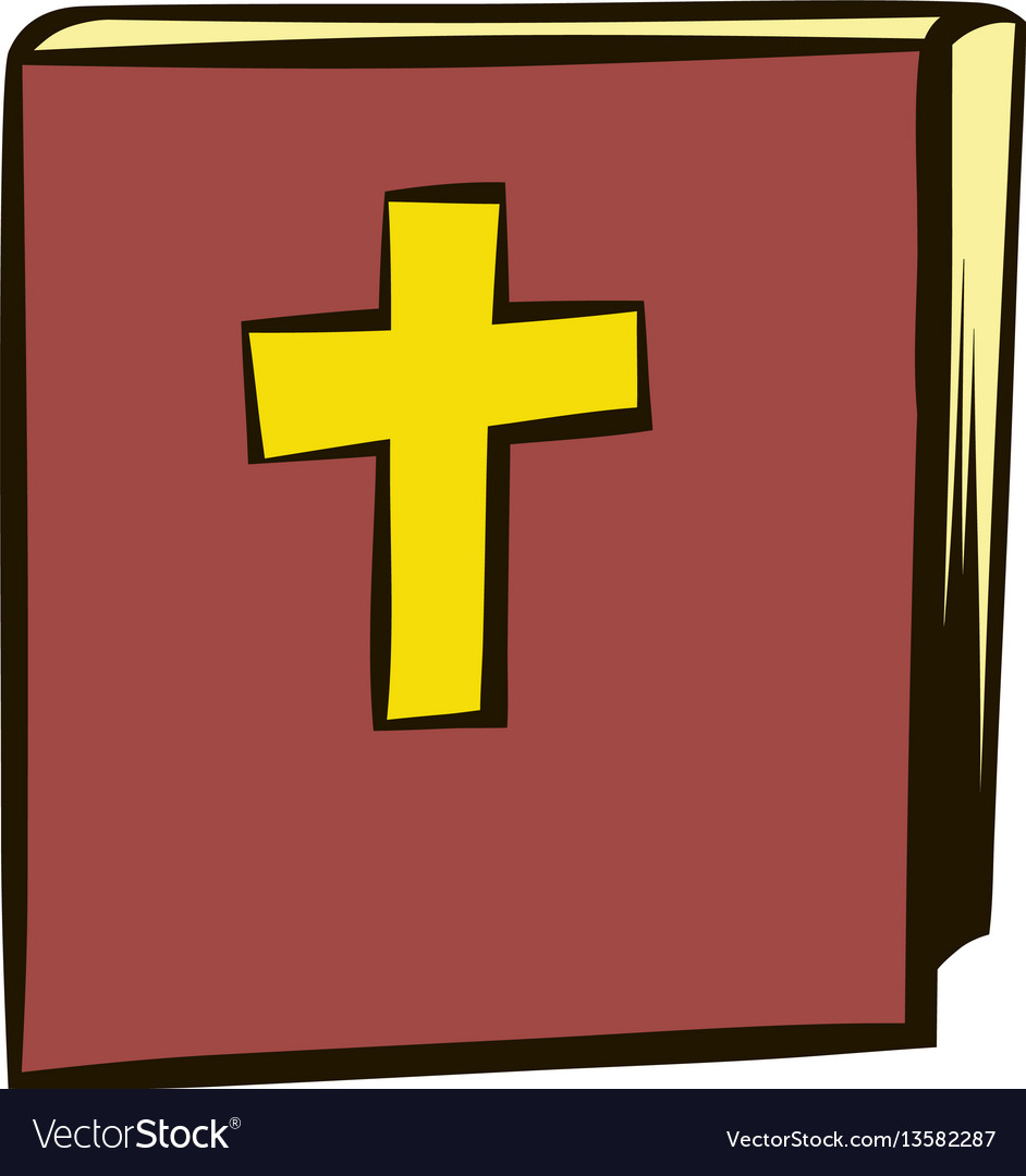 Bible icon cartoon
