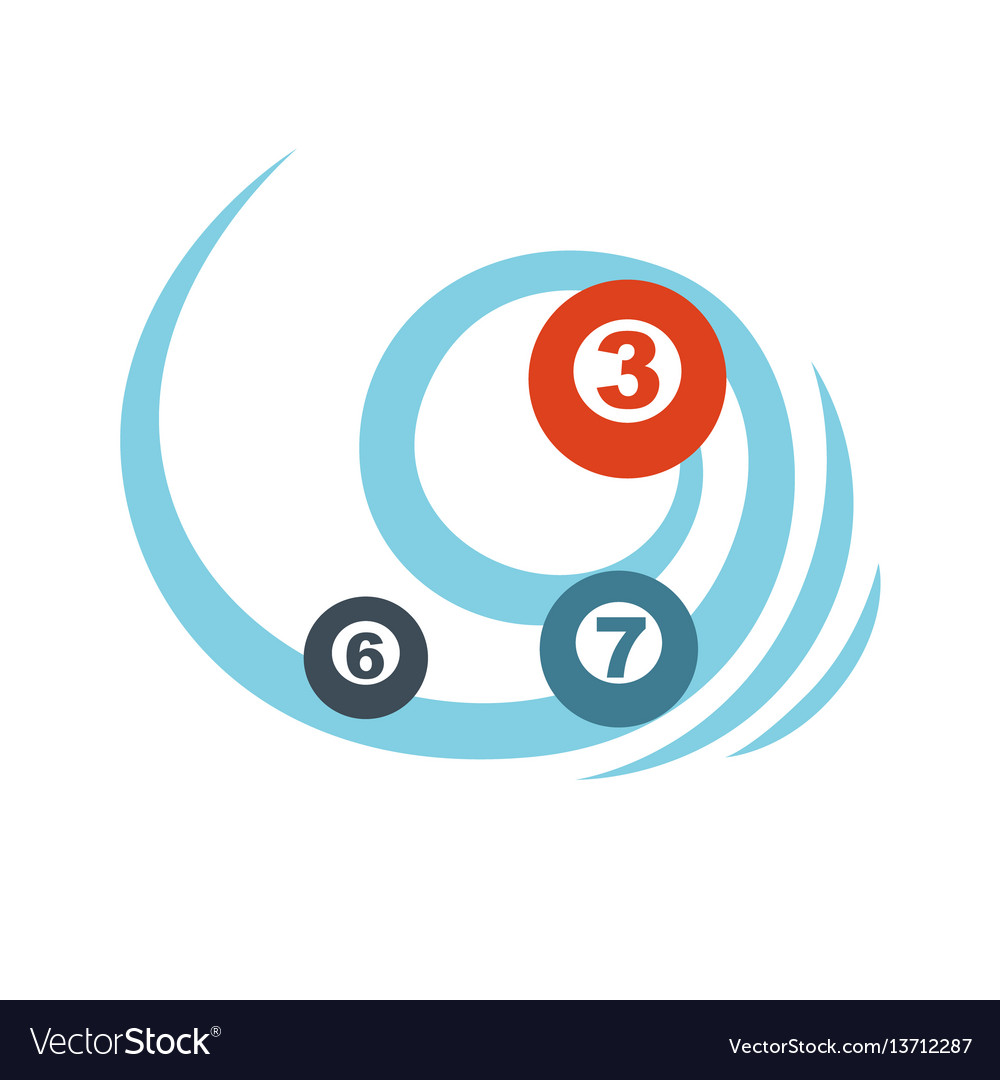 Flying balls or lottery colorful numbers graphic vector image