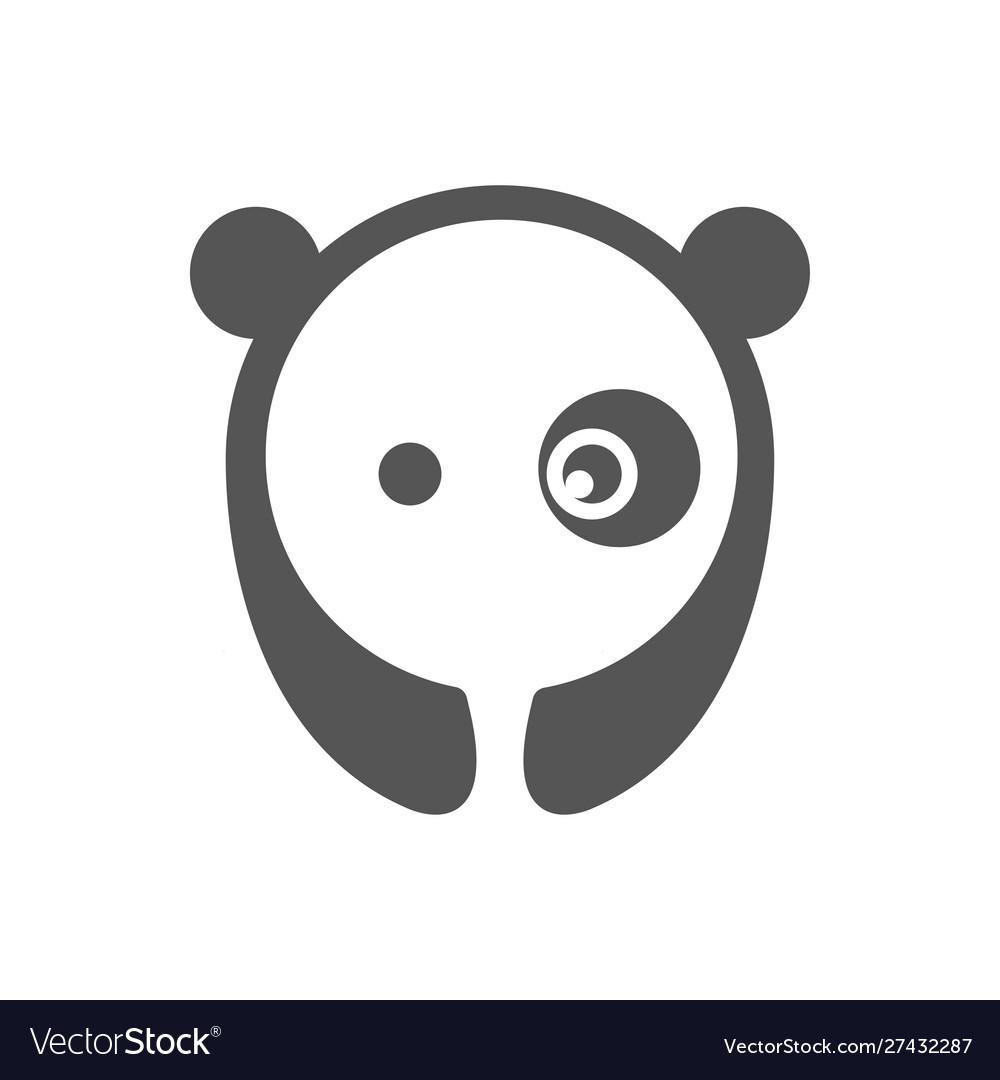Panda logo graphic abstract
