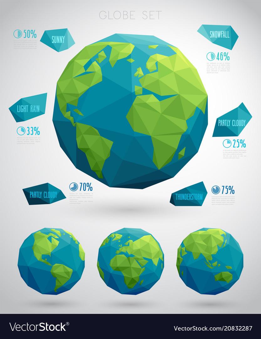 Set of eco globes