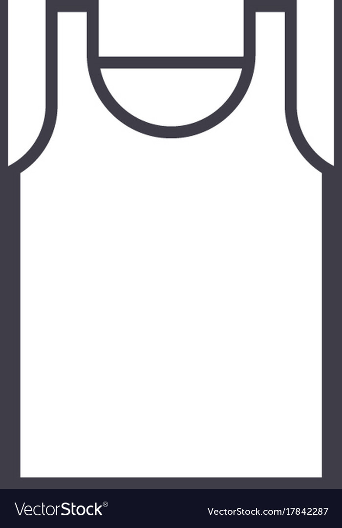 Singlet line icon sign on