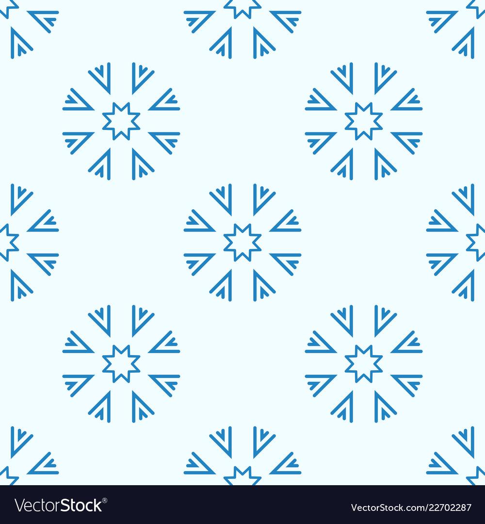 Snowflakes seamless geometric pattern