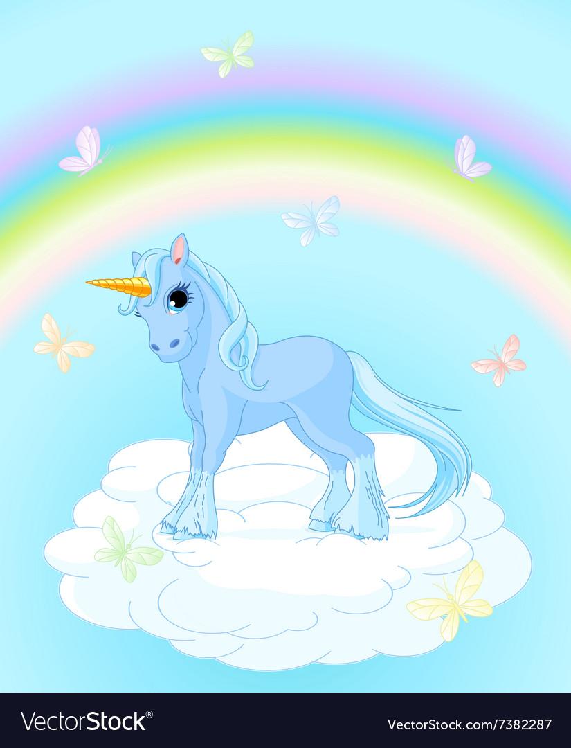 Unicorn on the Sky vector image