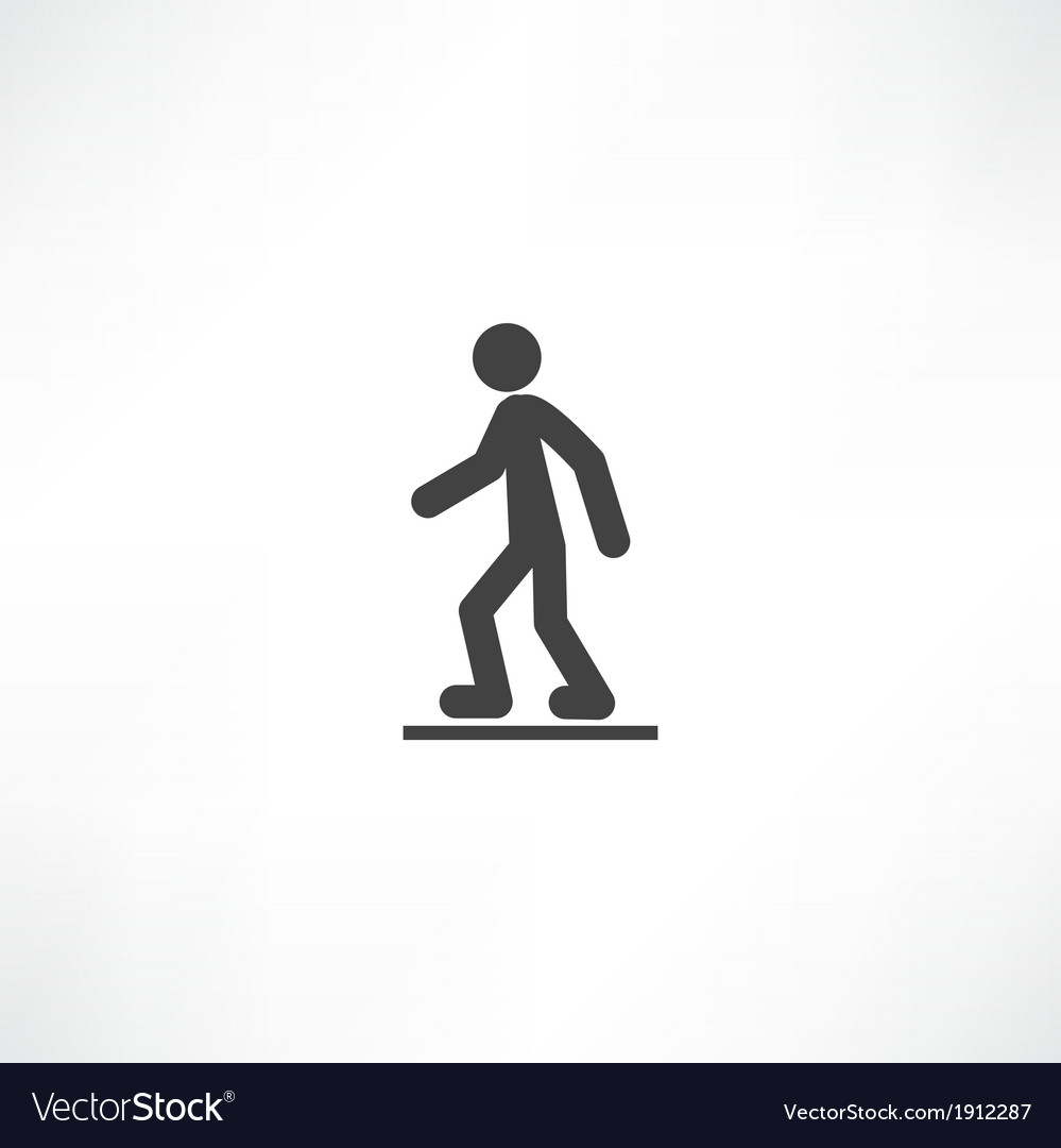 Walking man vector image