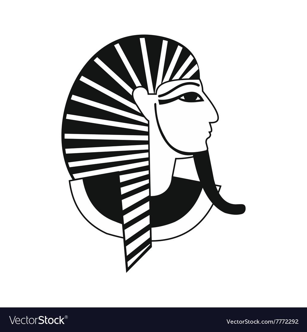 Egyptian pharaoh icon simple style