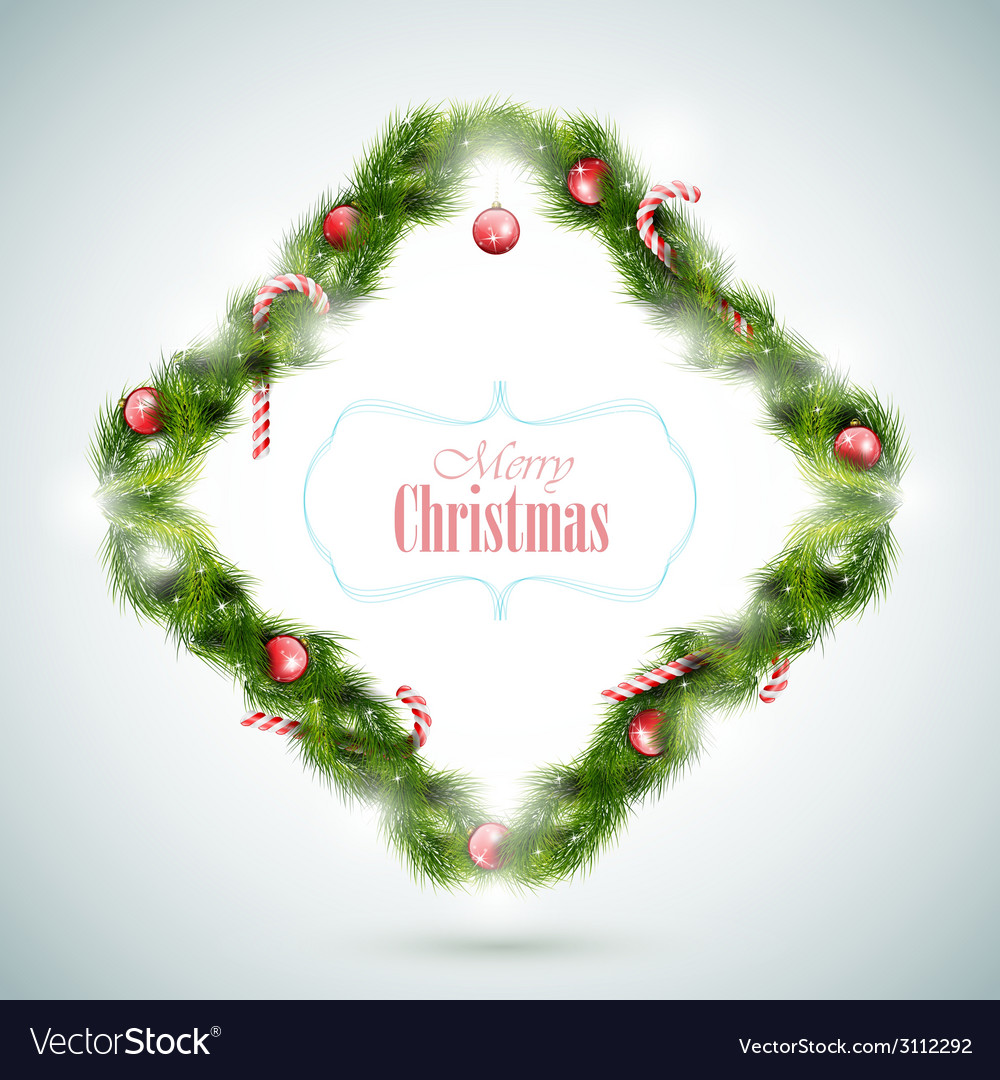 Greeting Card With Christmas Attributes