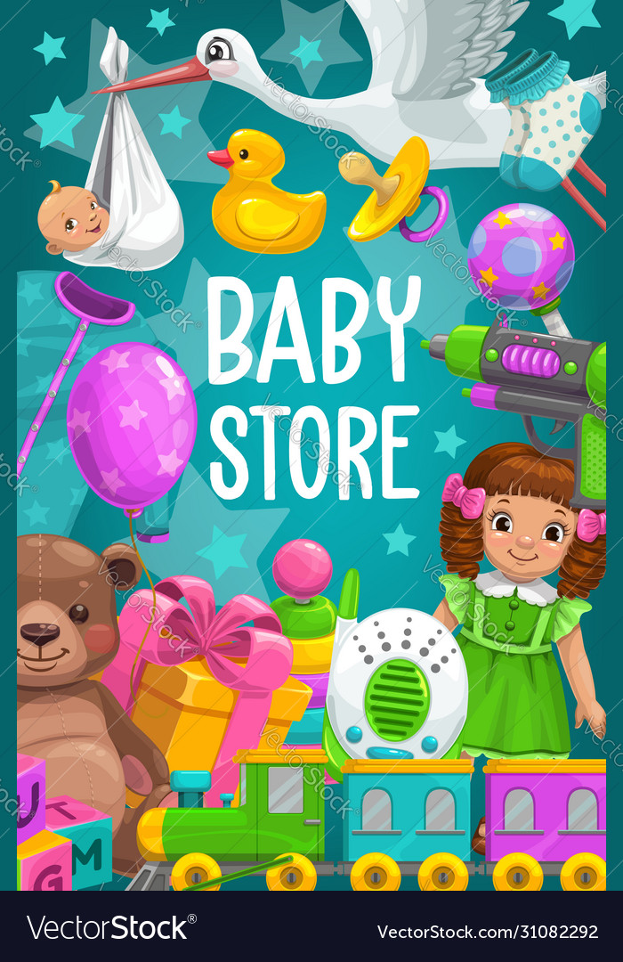 Kid toys shop baby games store bear doll