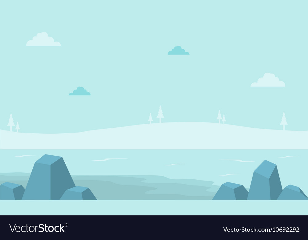 Landscape hill with fog for game backgrounds