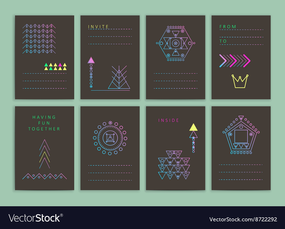 Modern creative cards vector image
