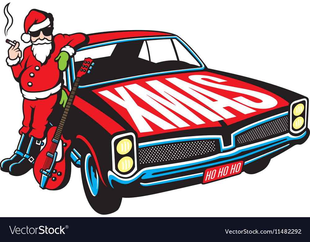 Rock and Roll Santa Claus design