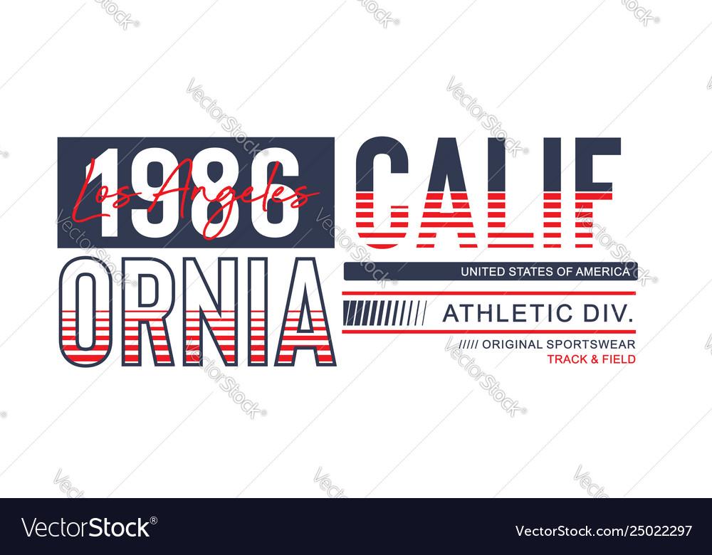 Athletic california 1986 typography design