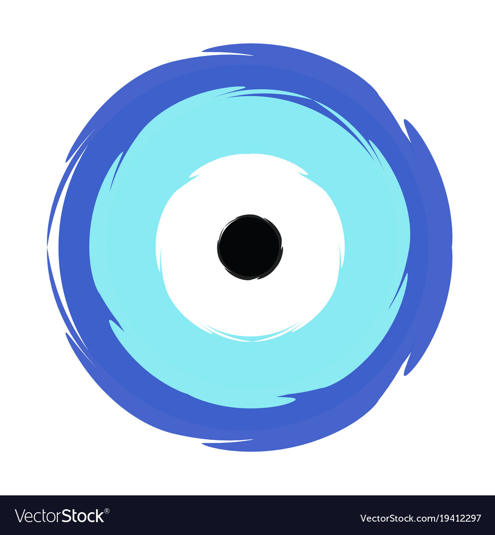 Greek blue evil eye - symbol of protection Vector Image bf0720f16