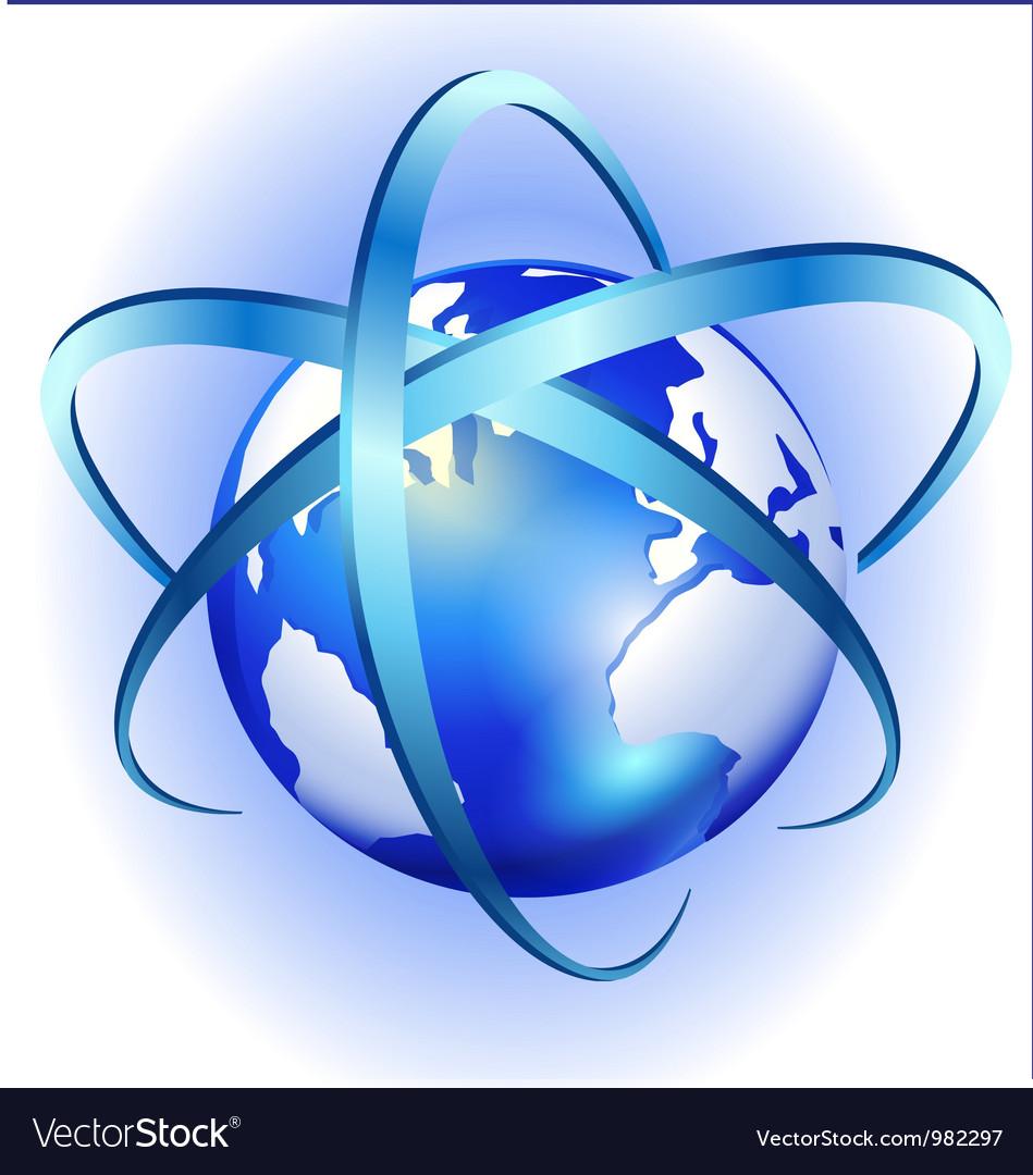 spinning globe logo royalty free vector image vectorstock