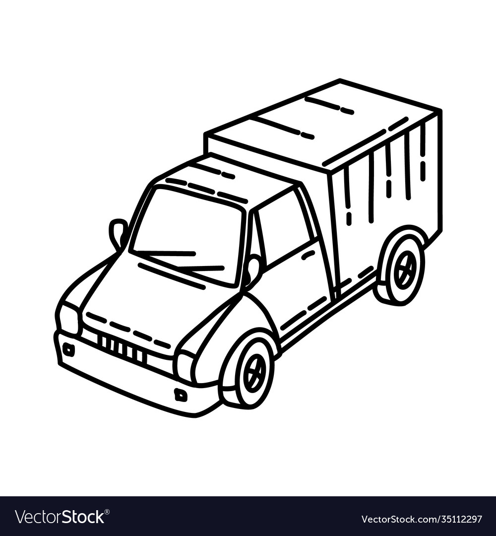 Transportation icon doodle hand drawn or outline