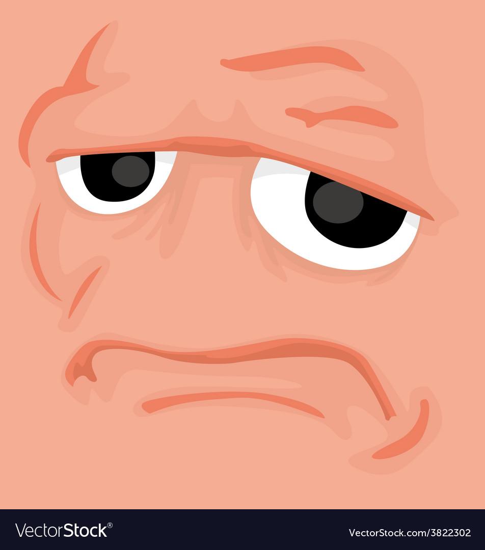 Cartoon comics face