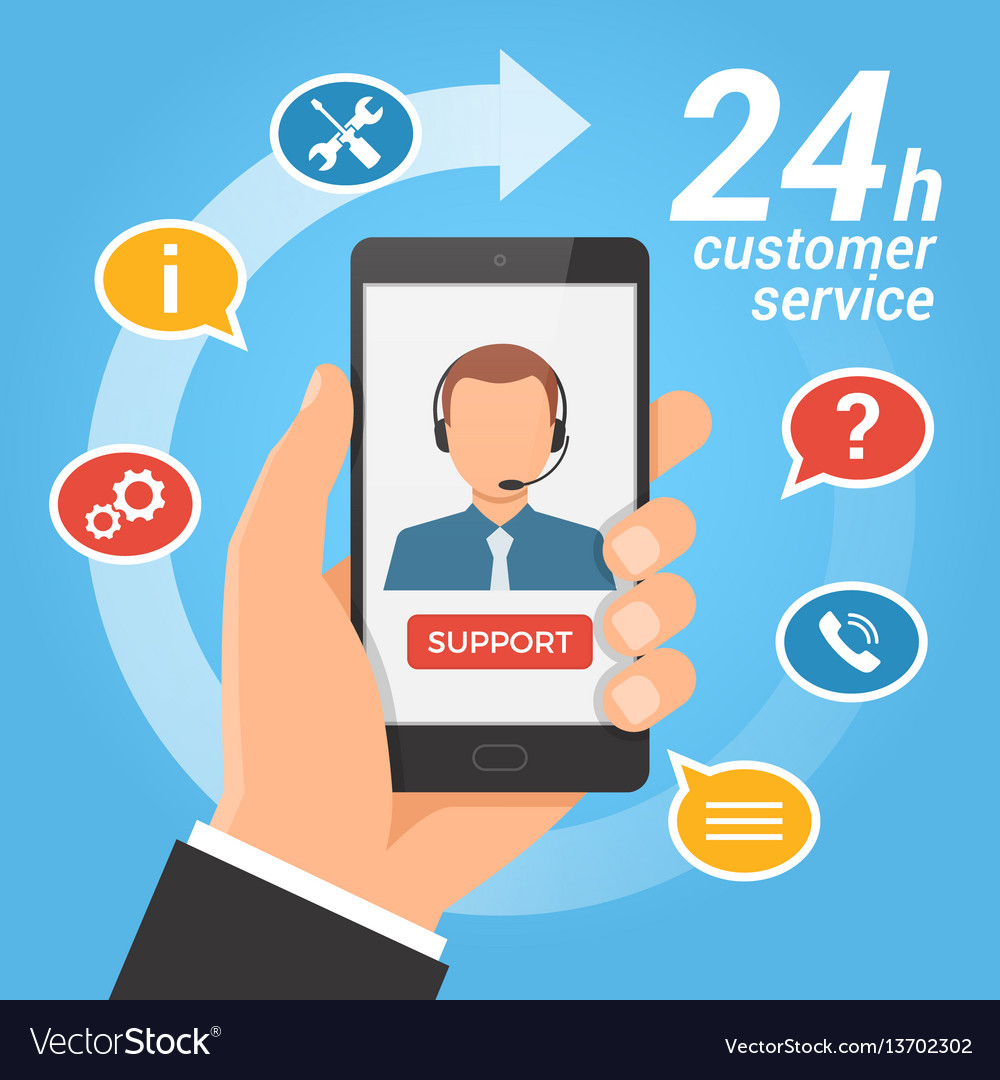 Customer service concepttechnical support call