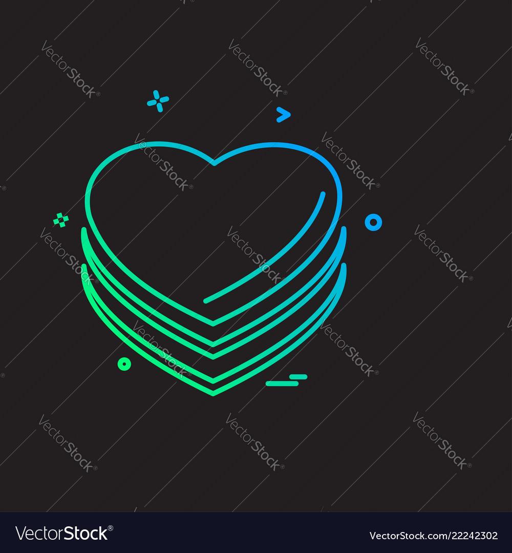 Hearts icon design