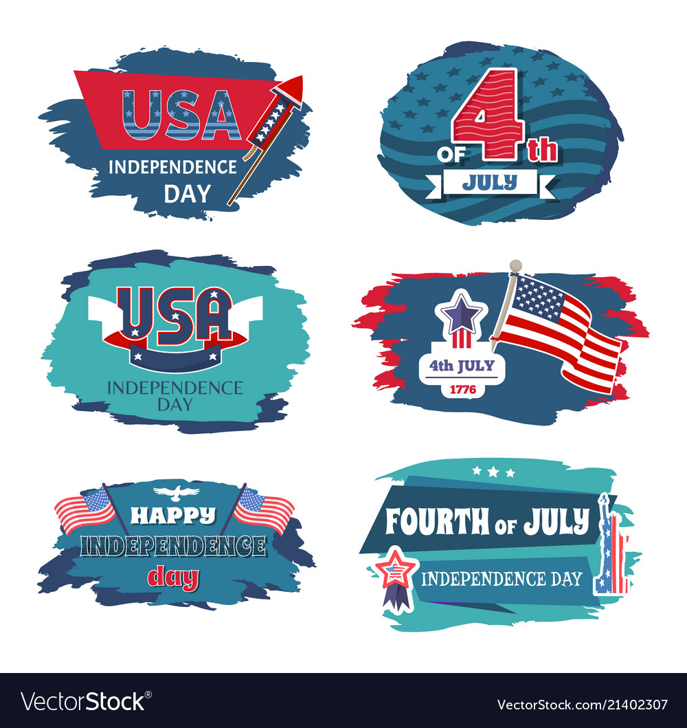 Fourth of july usa happy independence day posters
