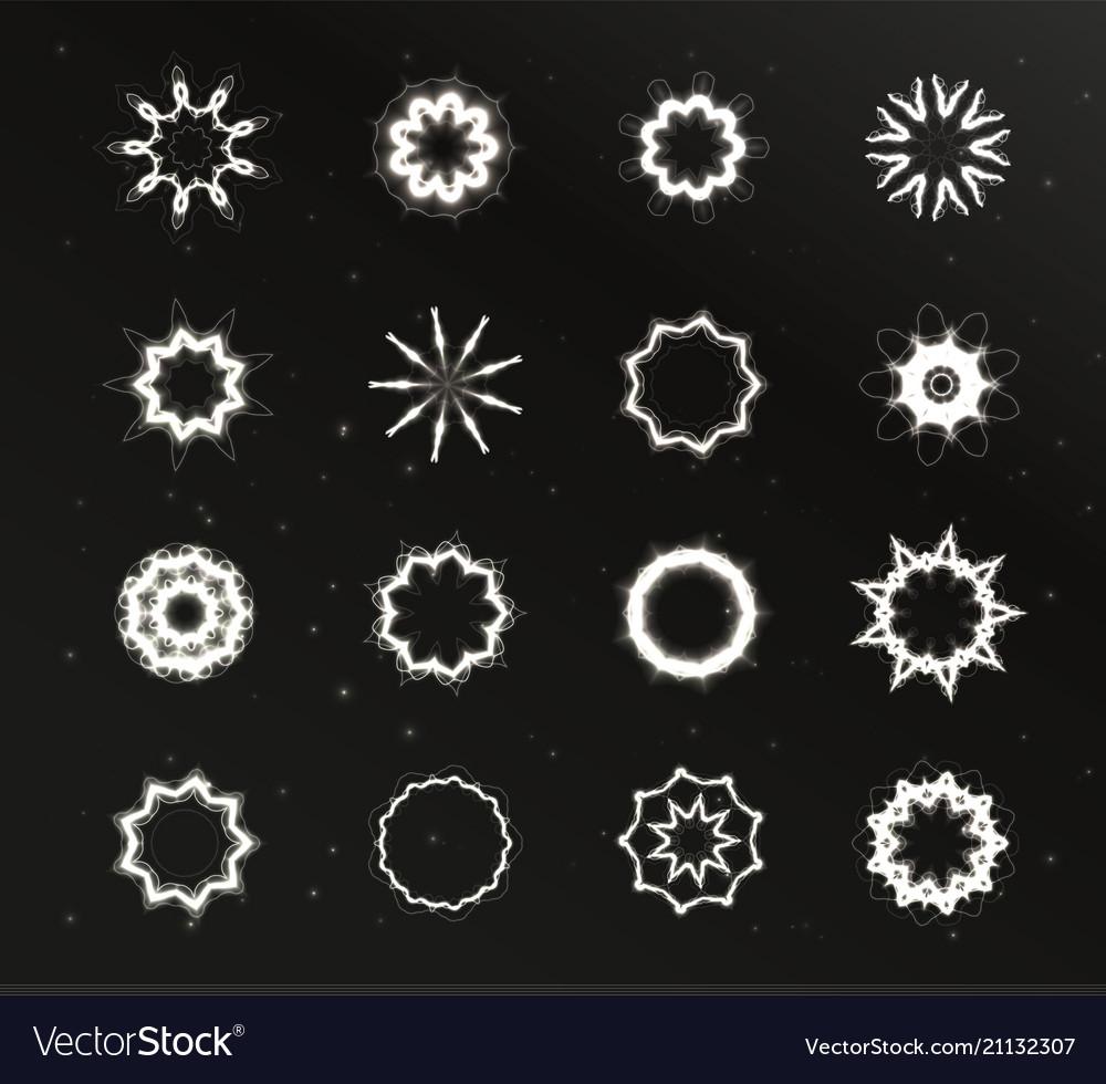 Star light unusual stars shape set glare