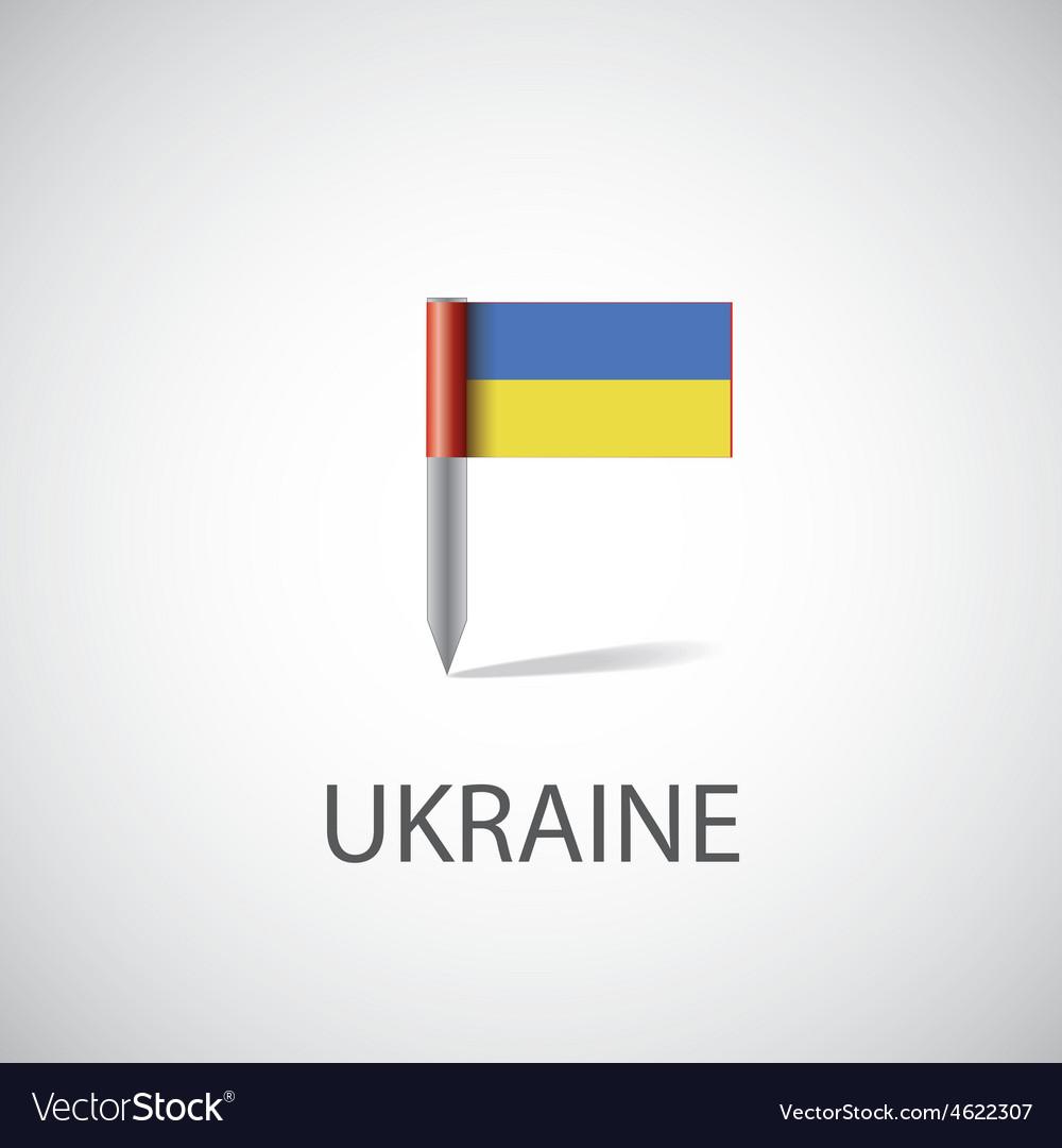 Ukraine flag pin