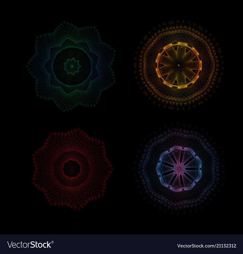 Abstract radial pattern linear geometric colored