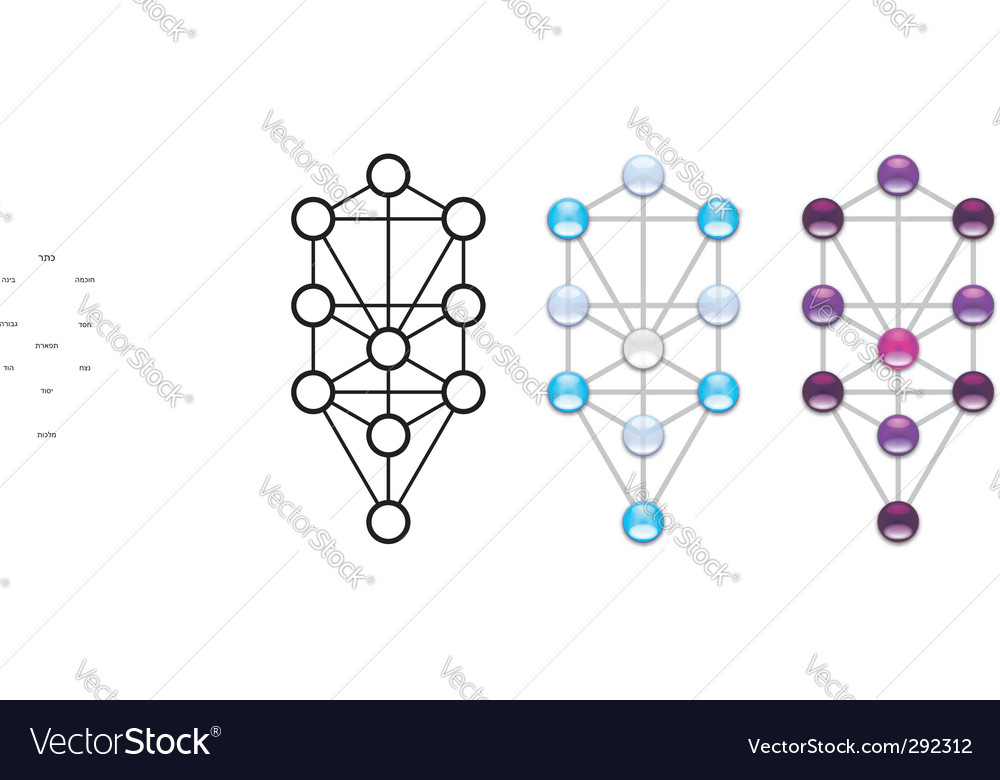 Arbor Sephiroth Tree Life Royalty Free Vector Image Experiential stages and states of reality. vectorstock